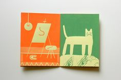 """A screenprinted mini zine published by Re:Surgo! called """"Tove on…"""