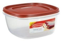 Premium Premium Quality Rubbermaid Easy Find Lid Square Food Storage Container 14-Cup Red -- See this great product.