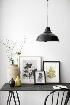 What a great way to decorate in an apartment or other rental! You don't have to perforate the walls!