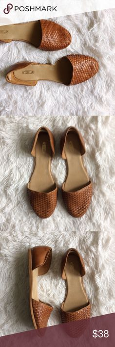 SAYCHELLES tan d'Orsay weaved flats Brand : Saychelles Size : 11 Condition : excellent condition   *d'orsay flats *weaved *tan leather Saychelles Shoes Flats & Loafers