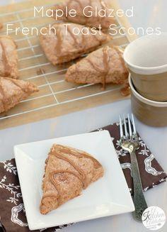 Maple Glazed French Toast Scones Recipe l www.a-kitchen-addiction.com