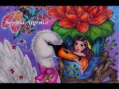 How to color the White Swan Adult Coloring, Coloring Books, Coloring Pages, Just Do It, Told You So, Markova, White Swan, Watercolor Pencils, To Color