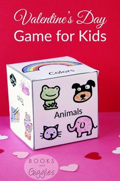 Valentines party game for kids. It can be a fun class party game or kids activity to play at home. Includes a free printable.