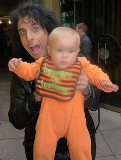 Crazy rock stars with cute kids. (Via Flavorwire)