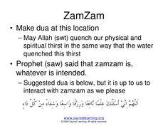 dua when drinking zam zam water transliteration - Google Search