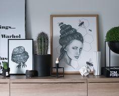 Instagram: @hvitelinjer  #interior #prints #cactus #design #decotation #inspiration