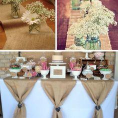 10 M * 33 CM Hessian juta serapilheira rolo para festa de casamento corredor da tabela do Vintage banquete decoração em Decoração de festa de Casa & jardim no AliExpress.com | Alibaba Group