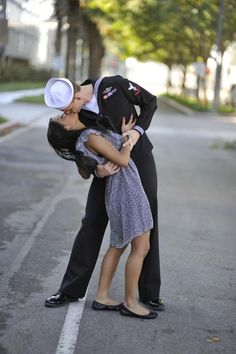 Typical Navy engagement photo. Must-Have if your future hubby is in the Navy