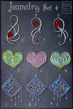 Jewelry Set 4 by Rittik-Designs on DeviantArt