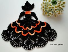 Crinoline Lady Halloween Witch Doily »Crinoline Crochet Doily ... pinkrosecrochet.wordpress.c...