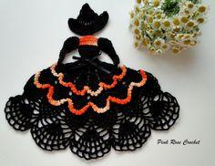 Crinoline Lady Halloween Witch Doily »Crinoline Crochet Doily ... pinkrosecrochet.wordpress.c...