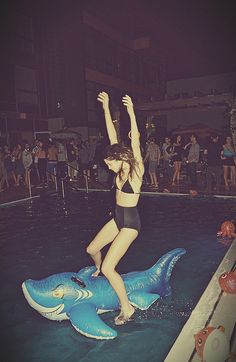 Summer nights and that stupid blow up shark...