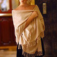 Like the nutmeg color of this Alpaca shawl.