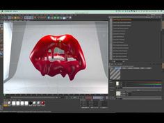 ▶ Melted Lips C4D (cinema 4D) Tutorial Part3 - YouTube