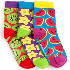 little miss mismatched fruits socks