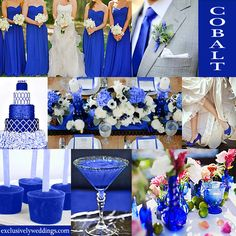 Cobalt Blue Wedding Color - Cobalt is usually seen in it's most vibrant hue and is very similar to sapphire and royal.