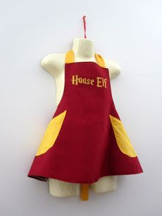 House Elf Apron Costume child  Harry Potter by RaeGun on Etsy, $39.50