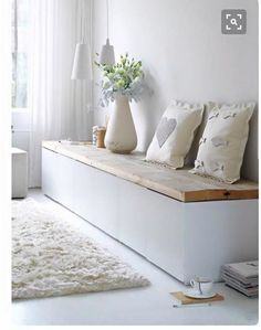 ikea hack mudroom bench 3 kallax shelving units and. Black Bedroom Furniture Sets. Home Design Ideas