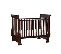 Sleigh Fixed Gate Crib #PotteryBarnKids