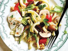 Vegetable Pasta Salad with Goat Cheese