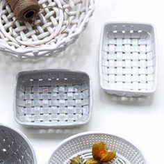 woven ceramic bread basket bowl by old with new | notonthehighstreet.com