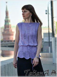"Блузки ручной работы. Ярмарка Мастеров - ручная работа Шелковая блуза ""Шелковый аметист"". Handmade."