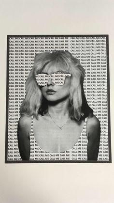 Debbie Harry Stencil collage