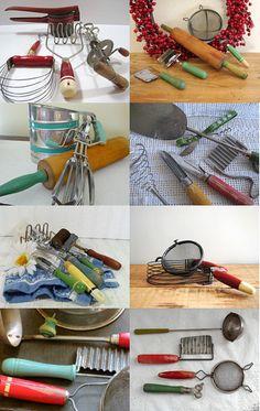 Vintage Shabby Chic Kitchen Gadget Collection Decor  curator:CzechBeaderyShop