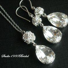 Bridal jewelry, Swarovski crystal bridal jewelry, Wedding jewelry, Bridal set, Wedding set