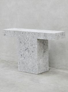 Joseph Dirand - terrazzo table, console, minimalistic
