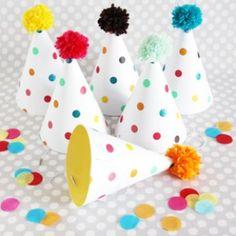 Paper Party Hats: Polka Dots