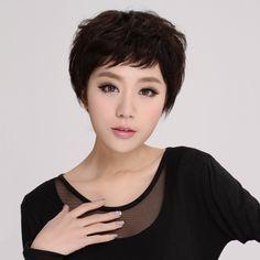 100% 사람의 머리카락은 여자의/ 여성 베일의 비트 손 짠가 가발 짧은 직선 가발 헤어 확장 브라질 처녀 머리 ys8036