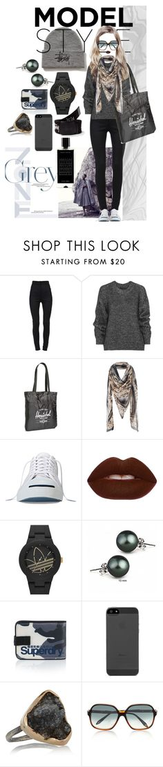 """""""Dream Set"""" by yvsra on Polyvore featuring Dolce&Gabbana, Stussy, Belstaff, Herschel Supply Co., Converse, Lime Crime, adidas Originals, Bling Jewelry, Superdry and Melissa Joy Manning"""