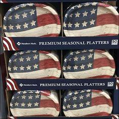 Patriotic Platter Pallet Tableware Display