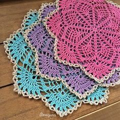 Spring Song Doilies: FREE crochet pattern