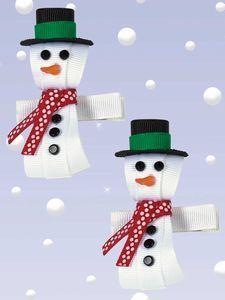 snowman hairbows