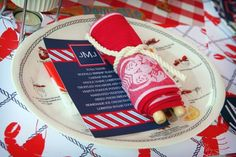 place settings for lobster bake