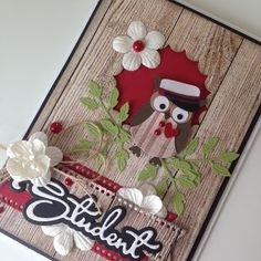 Owl Card, Homemade Greeting Cards, Graduation Cards, Diy Cards, Newport, Quilling, Punch, Projects To Try, Scrapbooking