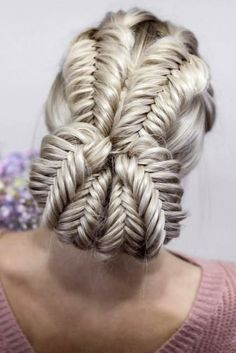 70 Charming Braided Hairstyles Braided Updo Hairstyles ❤️ Do not believe in the myth that braided hairstyles are difficult to do. We have picked some braids that are trendy, messy, and, most importantly, easy. Braided Hairstyles Updo, Braided Updo, Wedding Hairstyles, Hairstyles Haircuts, Fishtail Braids, Pretty Hairstyles, Hair Updo, Hairstyles Videos, Trendy Haircuts