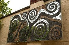 Natural Stone and Mirror Mosaic by Sunny Wieler