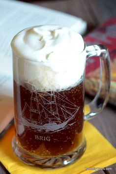 Butterbeer Recipe from the Wizarding World of Harry Potter. just want you want on a hot summer day!