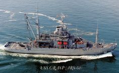 """USS Grasp (ARS-51)/USNS Grasp (T-ARS-51) by Juhani Sierla, via Flickr. """"GRASP"""" was working the North Sea to try to locate the """"Bonhomme Richard"""".. captained by John Paul Jones.  """"Bon Chance"""" to the craft and crew of """"GRASP"""""""