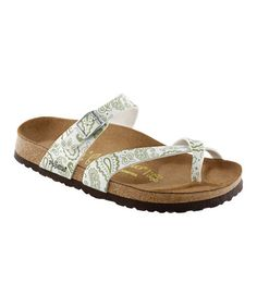 Take a look at this Bandana White & Sagebrush Tabora Sandal - Women by Papillio on #zulily today!