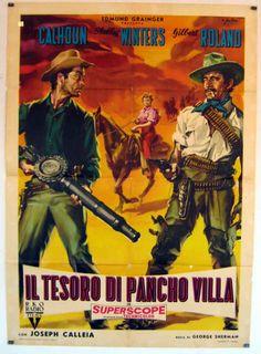 "1955 Movies | IL TESORO DI PANCHO VILLA"" MOVIE POSTER - ""THE TREASURE OF PANCHO ..."
