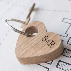 Personalised Heart Shaped Keyring | GettingPersonal.co.uk