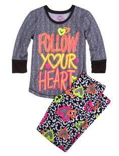 Cheetah Jersey Pajama Set | Pant Sets | Pajamas | Shop Justice