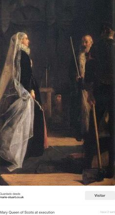 ...Subiendo al cadalso...donde la esperaban nobles ingleses y oficiales para atestiguar el castigo por su traición...