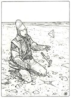 Capture d'un triangle d'or. by Moebius - Illustration