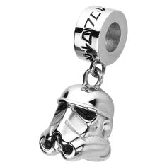Stainless Steel Star Wars Stormtrooper Dangle Charm