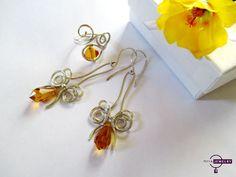silver jewelry set, swarovski jewelry set, topaz, silver earrings, swarovski earrings, silver ring